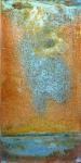 rain on water - oil on metal 40x50cm