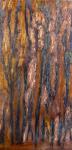 baumrinde - oil on metal 20x40cm
