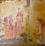 wasserstelle - oil on metal 30x30cm