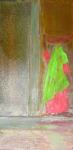 indian woman - oil on metal 20x40cm