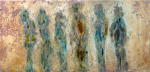 all in the same direction - oil on metal 20x40cm
